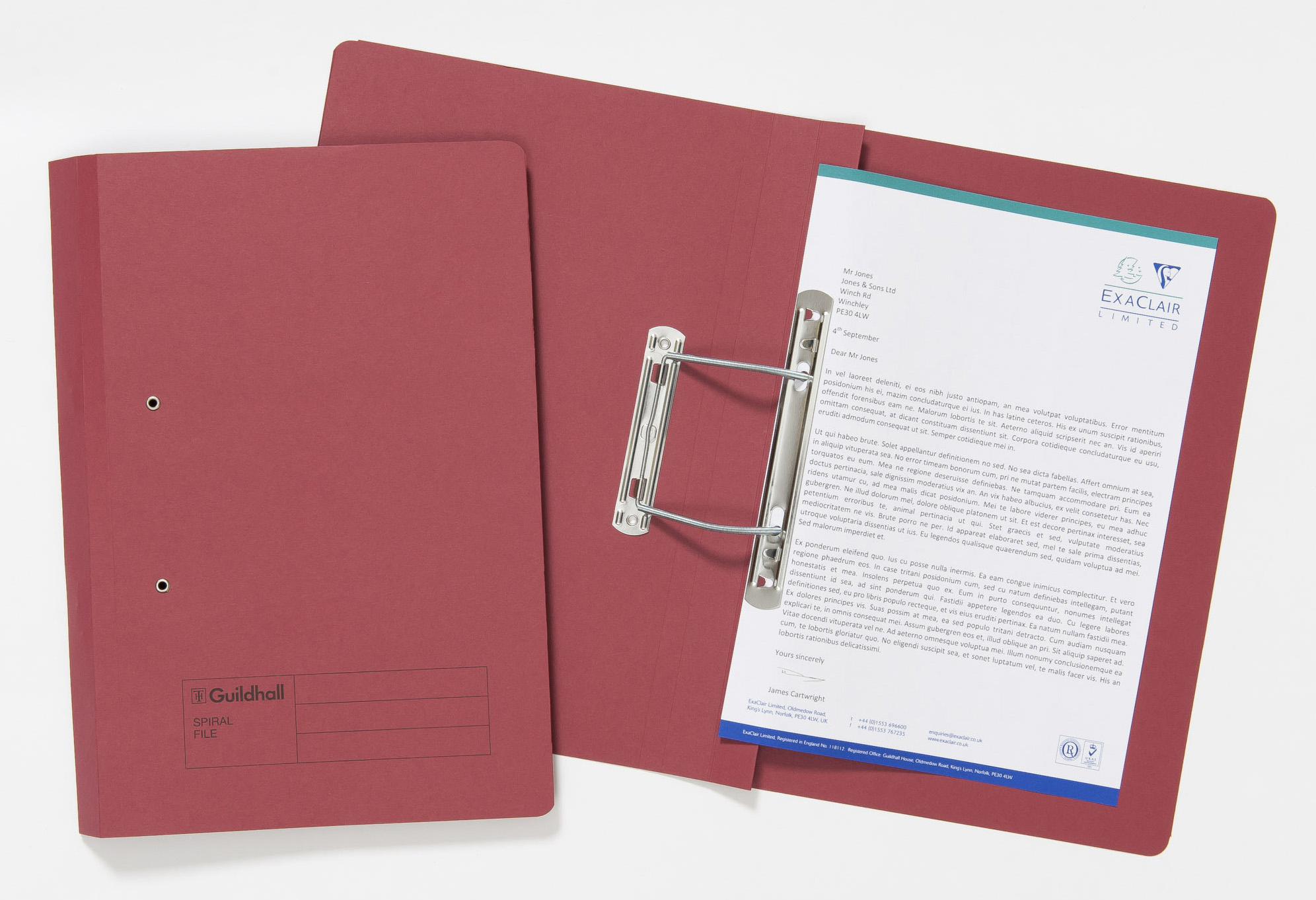 Guildhall Sprial File FS 285gsm RD PK25