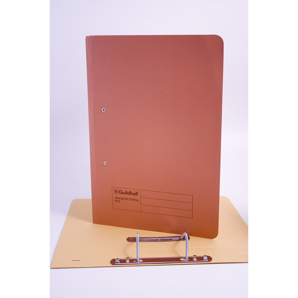 Legal Filing Guildhall Transfer Spring Files 38mm Foolscap Orange PK50