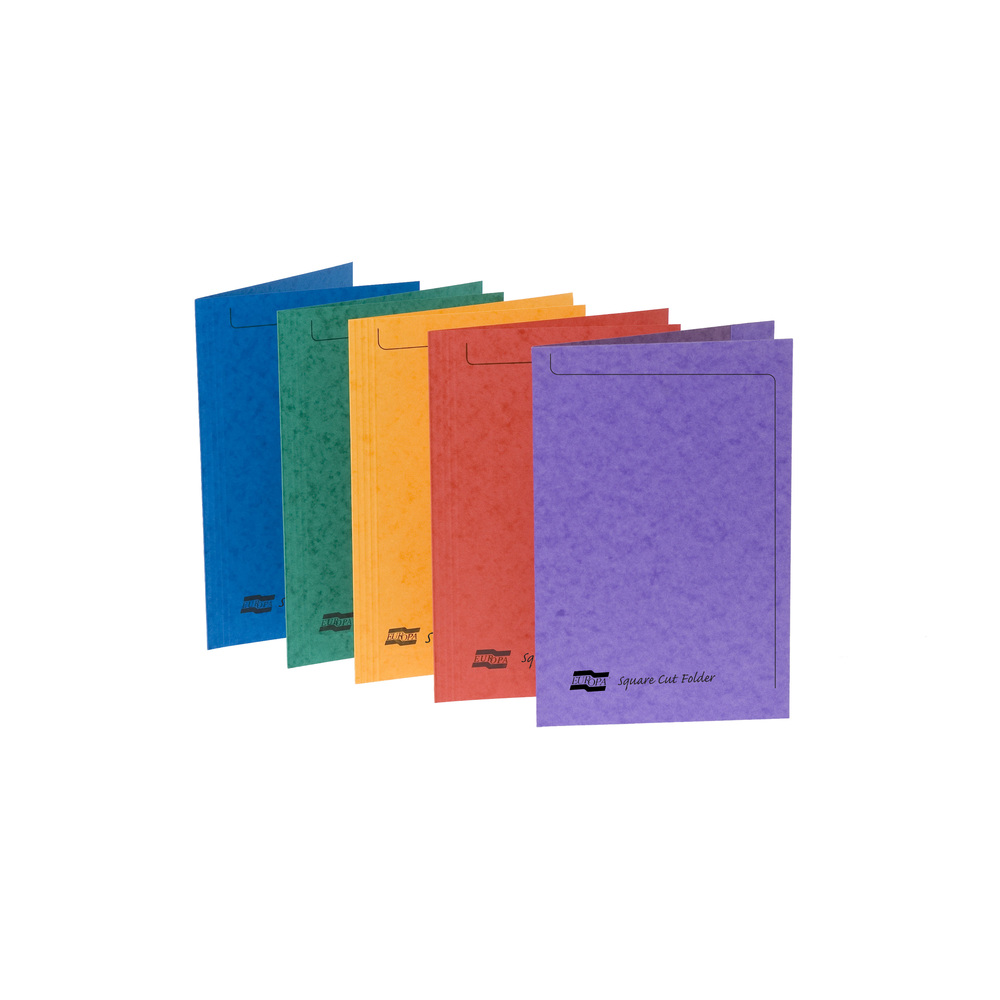 Europa Square Cut Folder Foolscap Assorted 4820Z (PK50)