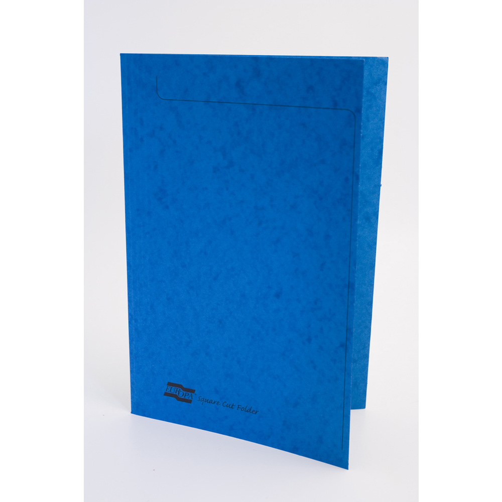 Square Cut Folders Europa Square Cut Folder 349x242mm Blue PK50