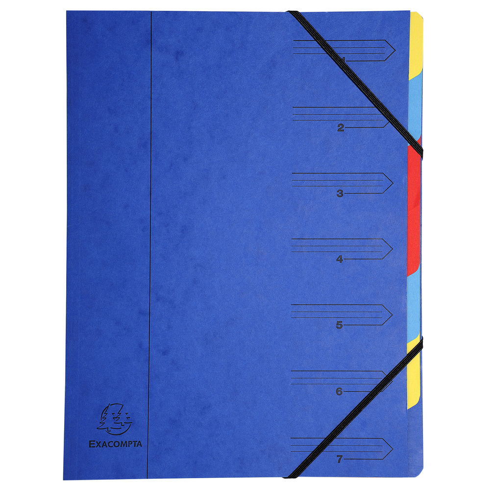 Square Cut Folders Exacompta Multipart File A4 Blue