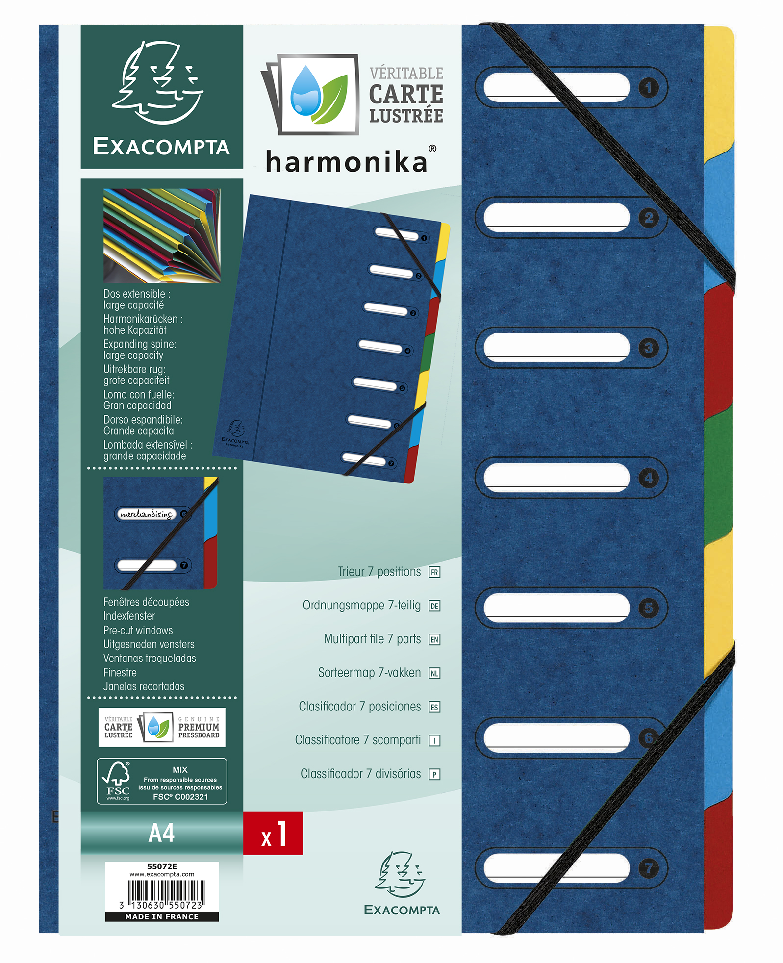Exacompta Harmonika 7 Part File