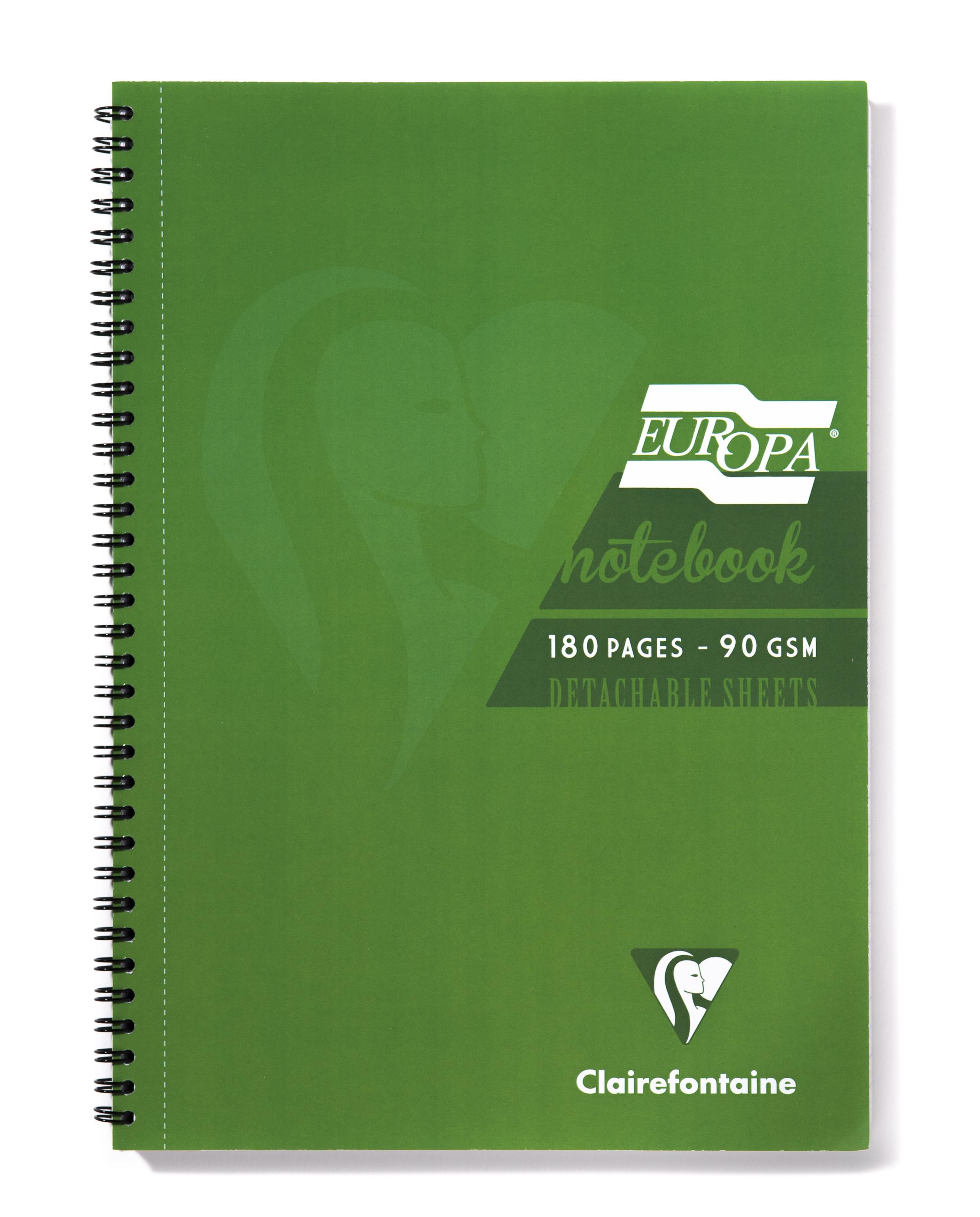 Europa A4 Sidebound Notebook Green PK5