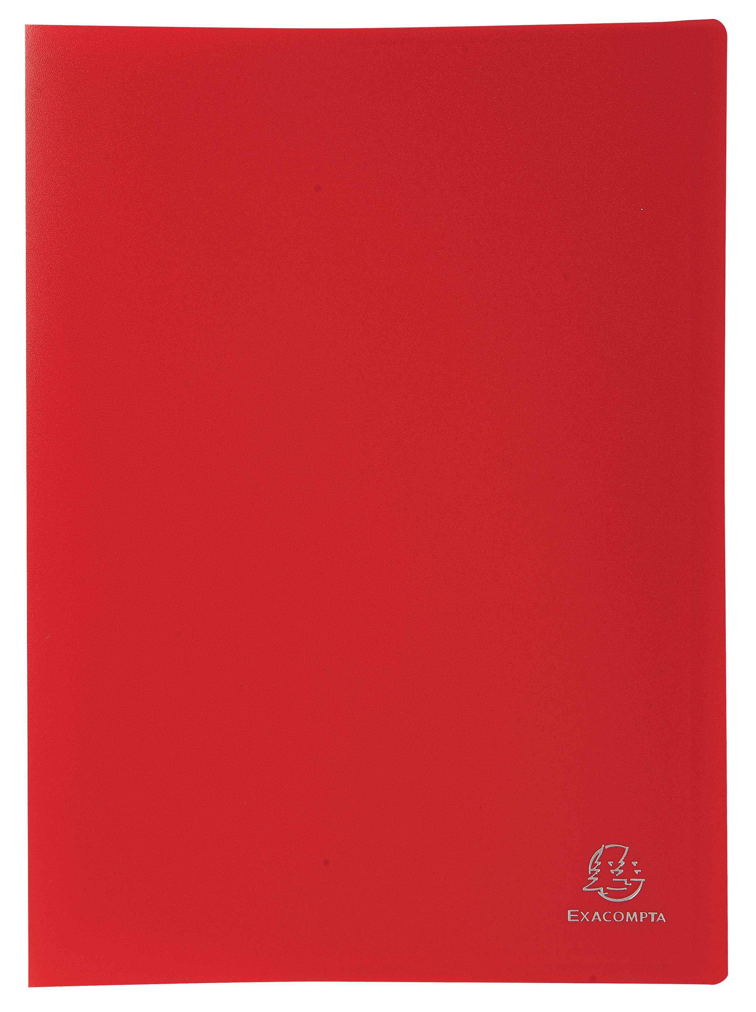 Exacompta A4 Display Book Soft Eco Polypropylene 40 Pocket Red