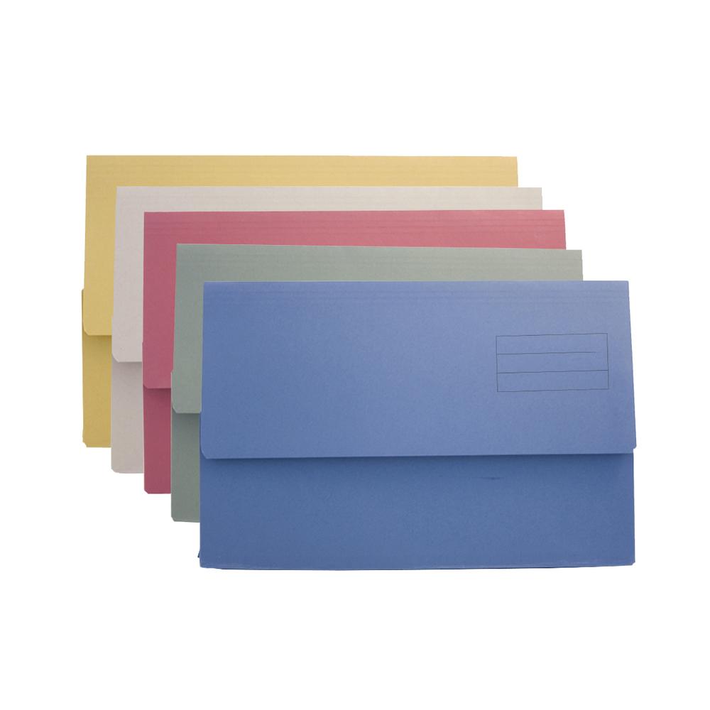 Value Document Wallet Foolscap Assorted DW250-ASTZ (PK50)