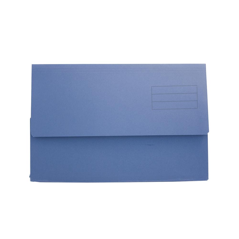 Value Document Wallet Foolscap Blue PK50