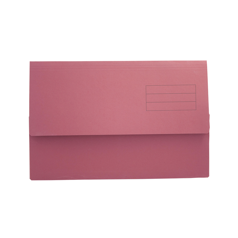 Value Document Wallet Foolscap Red PK50