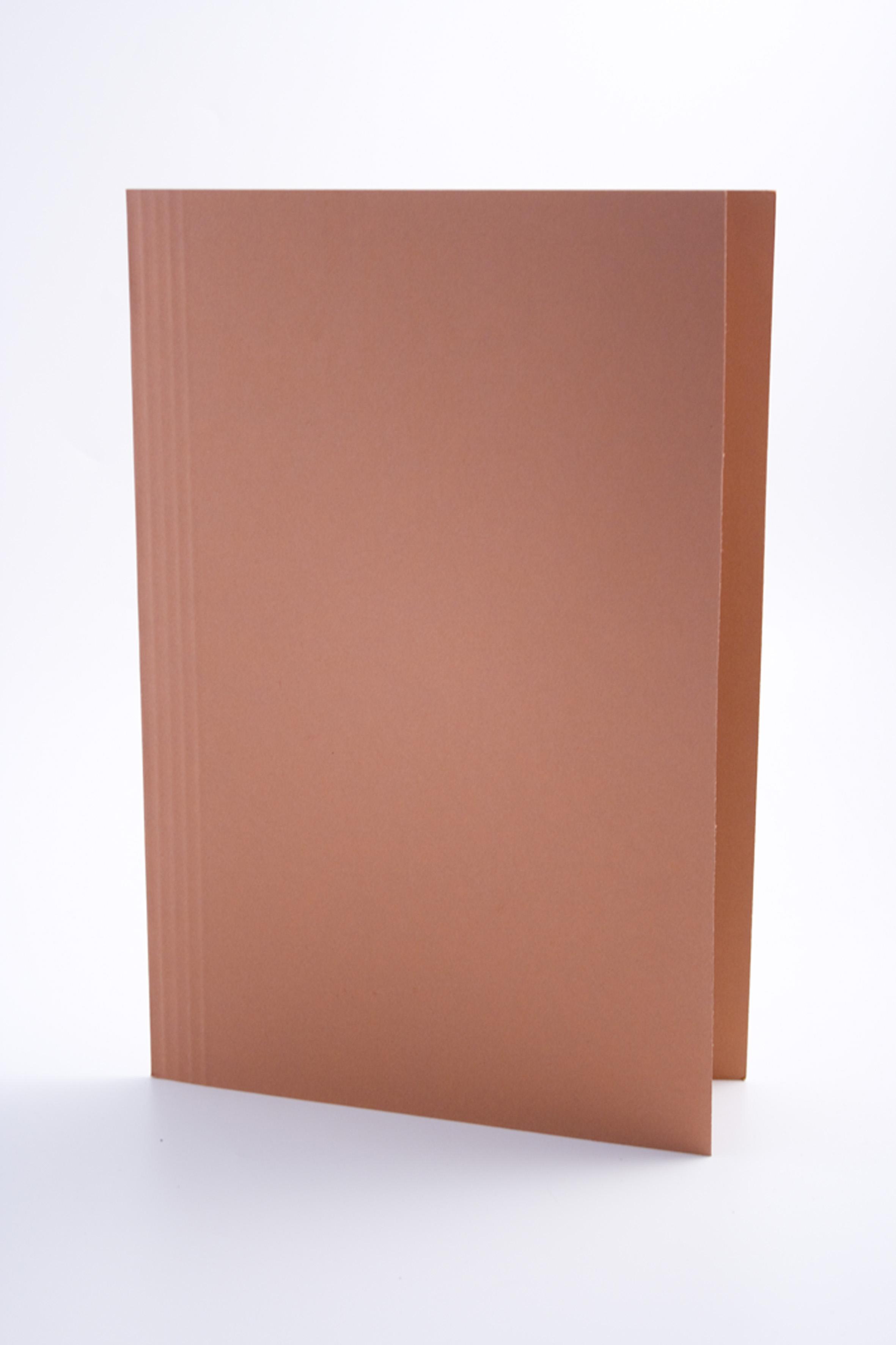 Guildhall Square Cut Folder Foolscap 250gsm Orange PK100