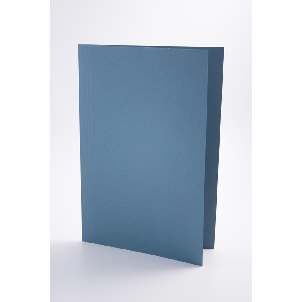 Guildhall Square Cut Folders Manilla Foolscap Blue PK100