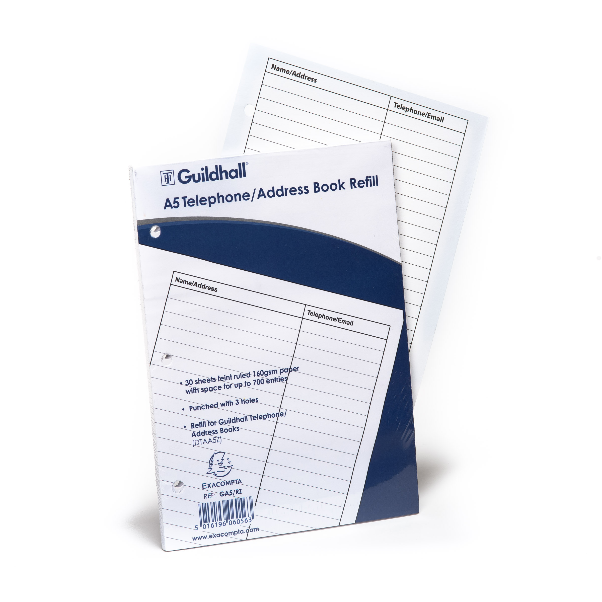 Goldline Address Book Refill A5