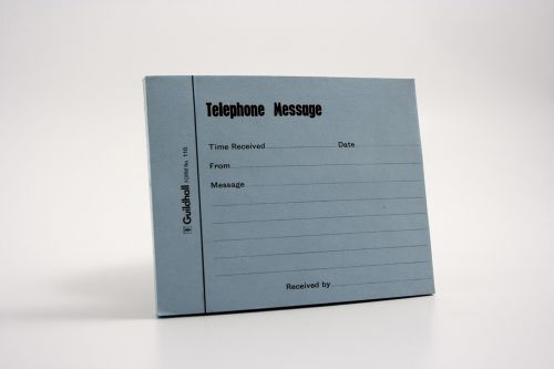 Guildhall Telephone Message Pad Blue Pack 5