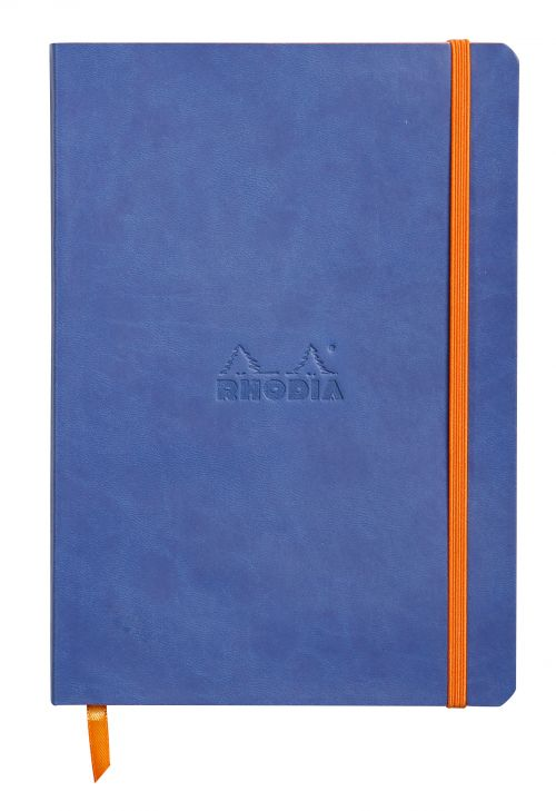 Rhodiarama Softcover Notebook Lined A5 Sapphire Blue