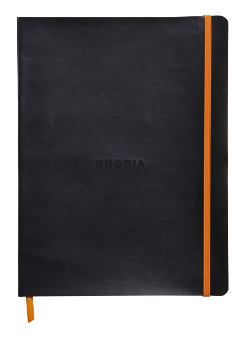 Rhodiarama Softcover Notebook Lined 190x250 Black