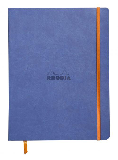 Rhodiarama Softcover Notebook Lined 190x250 Sapphire Blu