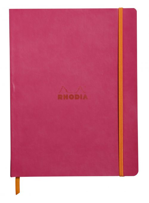 Rhodiarama Softcover Notebook Lined 190x250 Raspberry