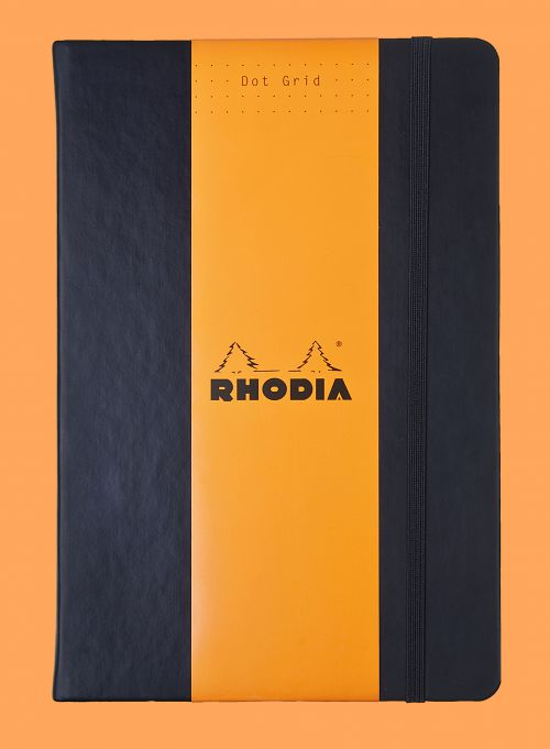 Rhodia Webnotebook Black A5 Dot Grid Hardcover