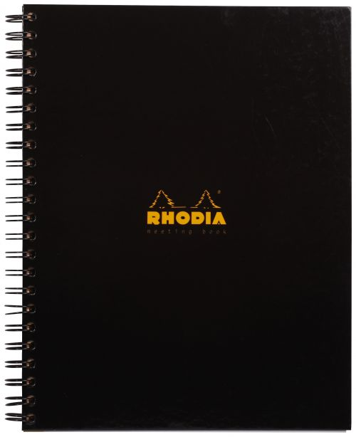 Rhodia Business Wirebound Meeting Book A4 Black PK3