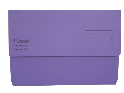 Forever Document Wallets 300gsm 345x245mm Purple PK25