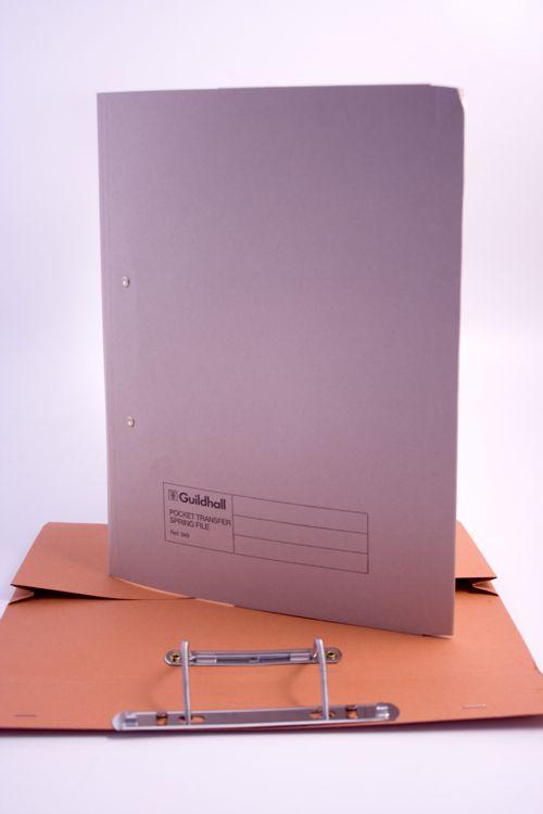 Guildhall Transfer Spring File 420gsm FrontPocket Foolscap Buff Ref 211/6001Z [Pack 25]
