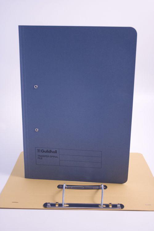 Guildhall Transfer Spiral File Foolscap Blue 420gsm 211/7000Z