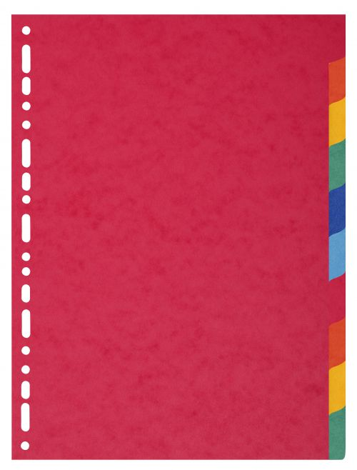 Exacompta 10 Part Coloured Recycled Dividers A4 Extra Wide