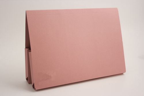 Guildhall FS Double Pocket Manilla Legal Wallet Pink PK25