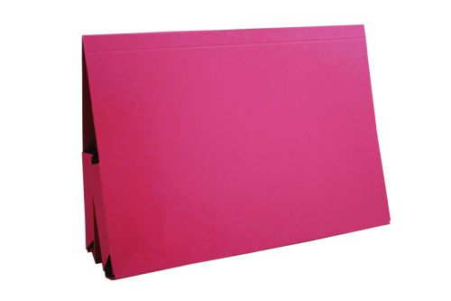 Guildhall Legal Double Pocket Wallet Foolscap Red (Pack of 25) 214-RED
