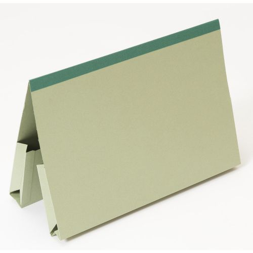 Guildhall Foolscap Double Pocket Legal Wallet Green PK25