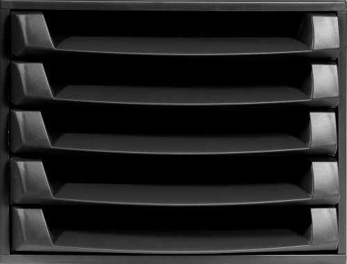 Forever 5 Drawer Set Black (W284 x D387 x H218mm) 221014D