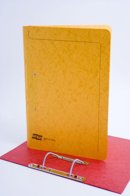 Europa Spiral File Foolscap Yellow 3006