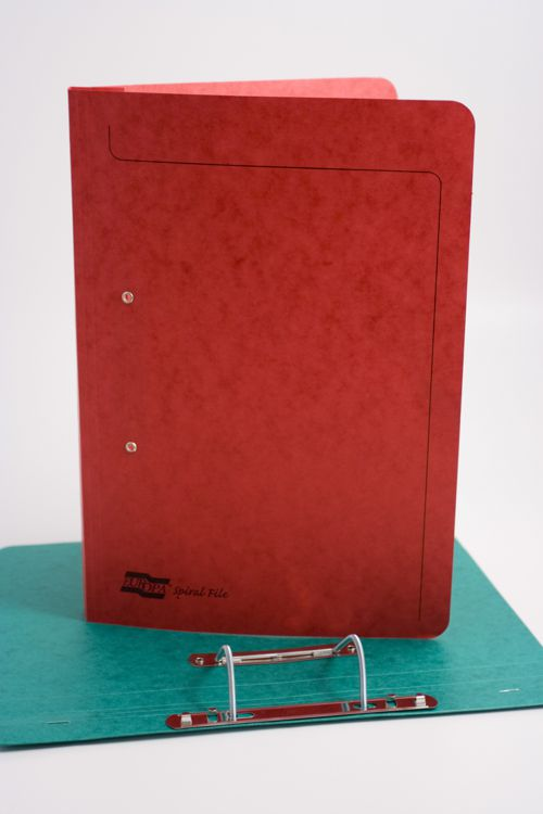 Europa Spiral File Foolscap Red 3008