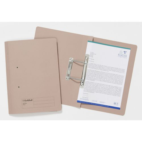 Guildhall Spiral File 285gsm Buff Pack 25