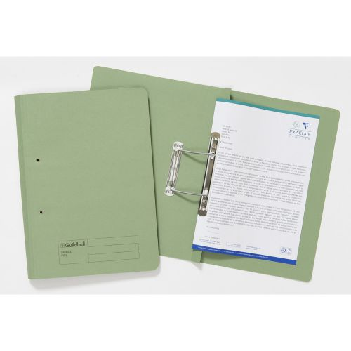 Guildhall Spiral File 285gsm Green Pack 25