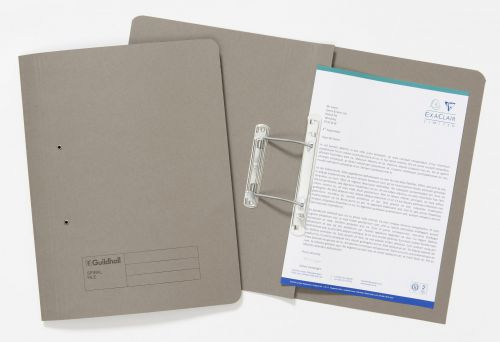 Guildhall Sprial File Foolscap 285gsm Grey PK25