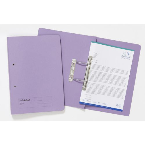 Guildhall Spiral Files 285g 355x250mm Mauve PK25