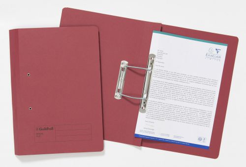 Guildhall Sprial File Foolscap 285gsm Red PK25