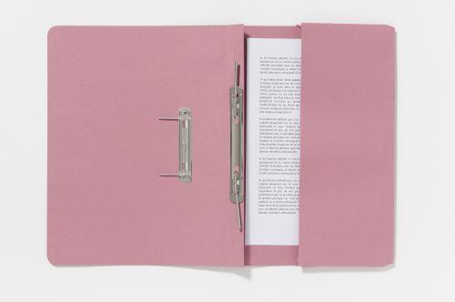 Guildhall Pocket Spiral File Foolscap 285gsm Pink PK25