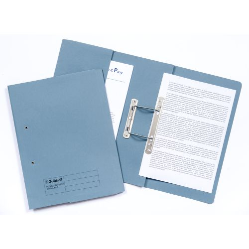 Guildhall 38mm Transfer Spring Files  Foolscap Blue PK25