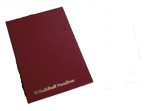 Guildhall Headliner Account Book 298x203mm 12 Cash 80 pages