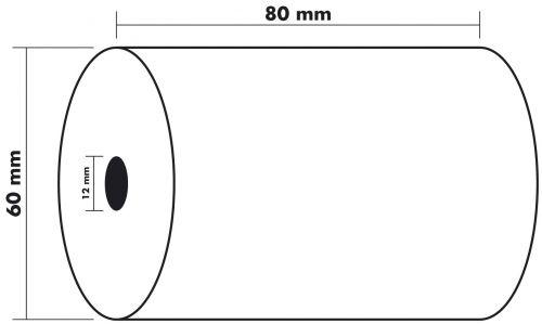 Thermal Rolls BPA Free 55g 80x60x12mm 44m PK10
