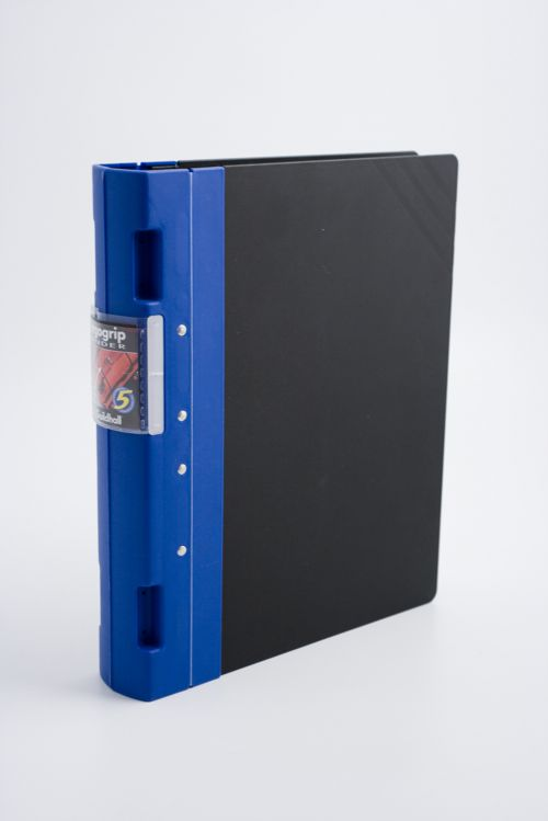 Guildhall GLX Ergogrip Binder Capacity 400 Sheets 4x 2 Prong 55mm A4 Blue Ref 4532Z [Pack 2]