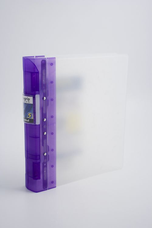 Guildhall GLX Frosted Ergogrip Binder 314x280mm 4 Ring Lilac