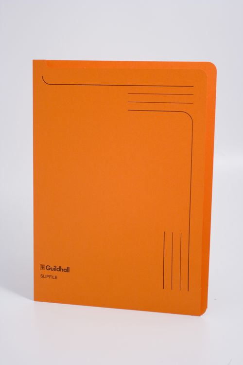 Guildhall Slipfile Open 2 Side Manilla File Orange PK50