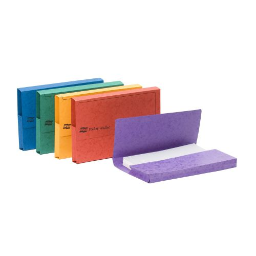 Europa Pocket Wallet Foolscap Assorted Colours A (25) 4790