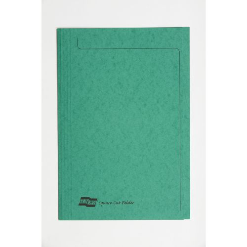 Europa Square Cut Folder 349x242mm Green PK50