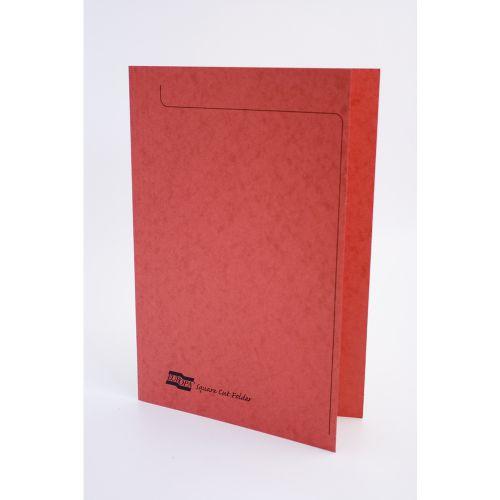 Europa Square Cut Folders Foolscap Red 4828