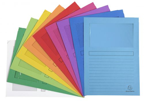 Forever Window Folder A4 Assorted PK100