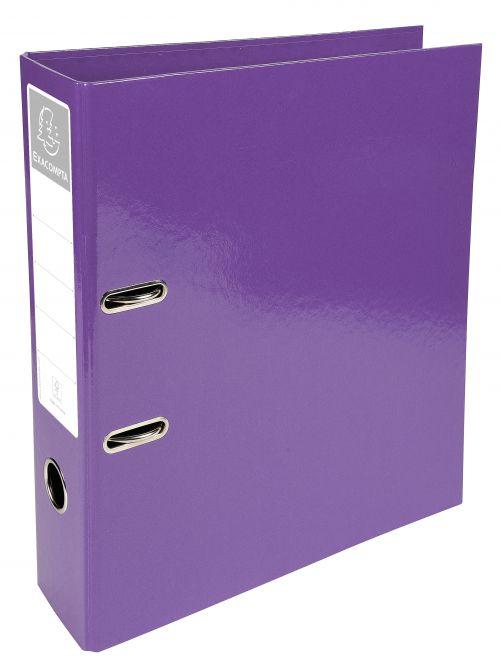 Iderama Lever Arch File 32x30cm 70mm Spine Purple PK10