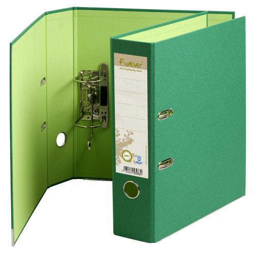 Forever PremTouch Lever Arch File A4 80mm Green BX10