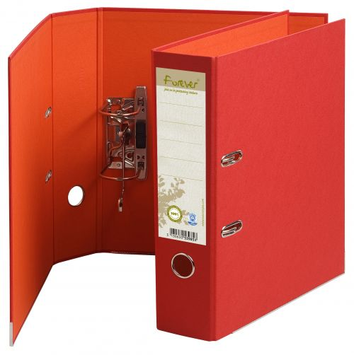 Forever PremTouch Lever Arch File A4 80mm Red BX10
